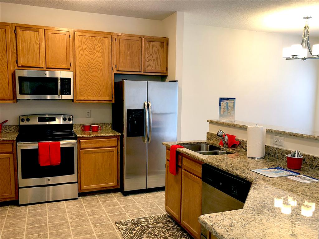 Kitchen at Crystal Lake Townhomes, Greensboro, NC