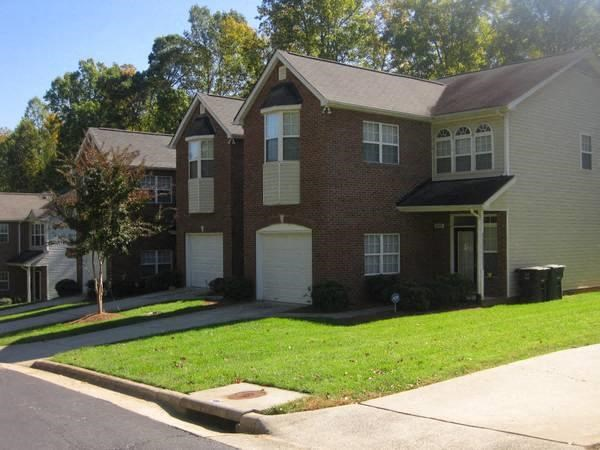 Front Yard of Townhome at Crystal Lake Townhomes in Greensboro, NC
