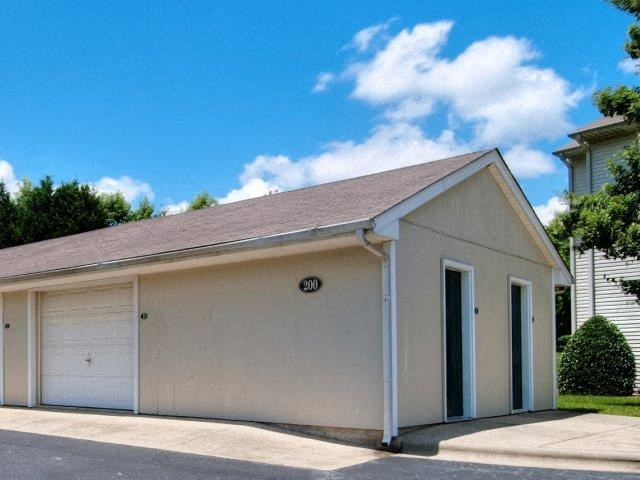 Detached Garages With Remote Access at Treybrooke Village Apartments, Greensboro, NC, 27406