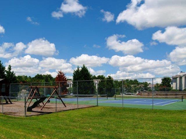 Professional Grade Tennis Courts at Treybrooke Village Apartments, Greensboro, NC, 27406