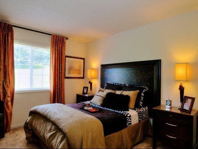 Extra-Comfy Bedroom Furnishings at Treybrooke Village Apartments, North Carolina, 27406