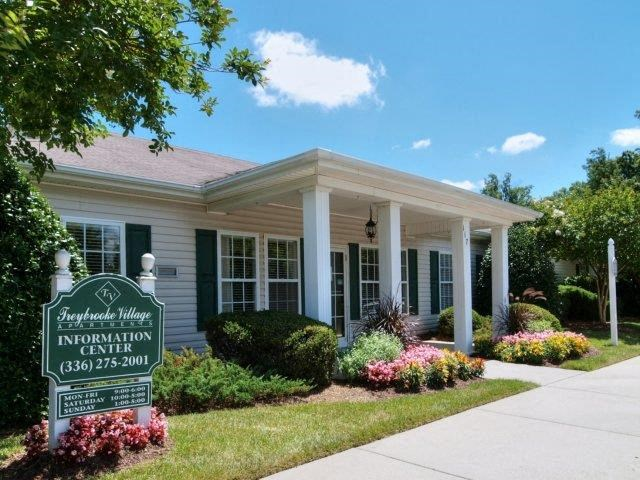 Front Entrance at Treybrooke Village Apartments, Greensboro, 27406