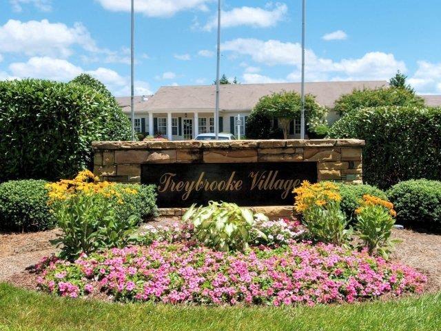 Grand Entrance Sign at Treybrooke Village Apartments, Greensboro, 27406
