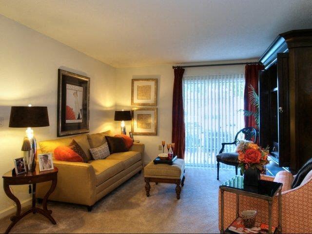 Upgraded Living Room Lighting at Treybrooke Village Apartments, Greensboro, 27406