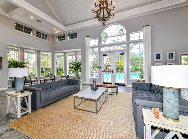 Stunning Modern Design Community Clubhouse with Ample Space and Amenities at Paradise Island Apartments, Jacksonville, FL 32256