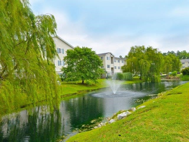 Garden Path With View at River Landing Apartments, South Carolina