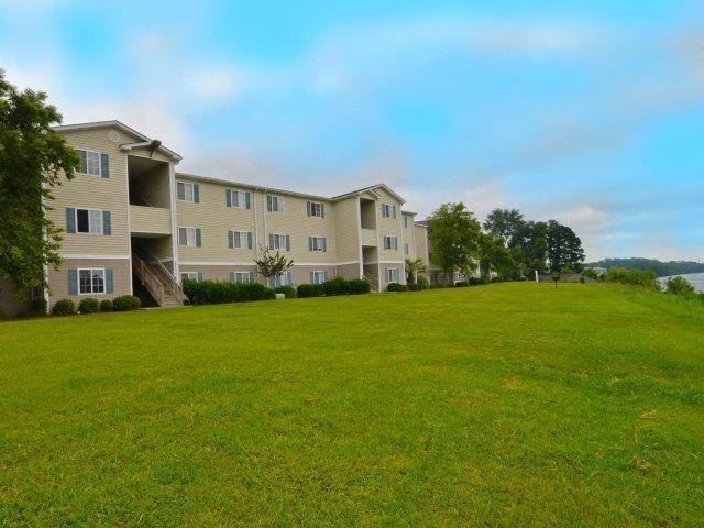 Landscaped Lawn Front at River Landing Apartments, South Carolina, 29579