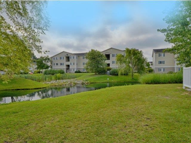 Lush Green Lawn at River Landing Apartments, Myrtle Beach, SC, 29579