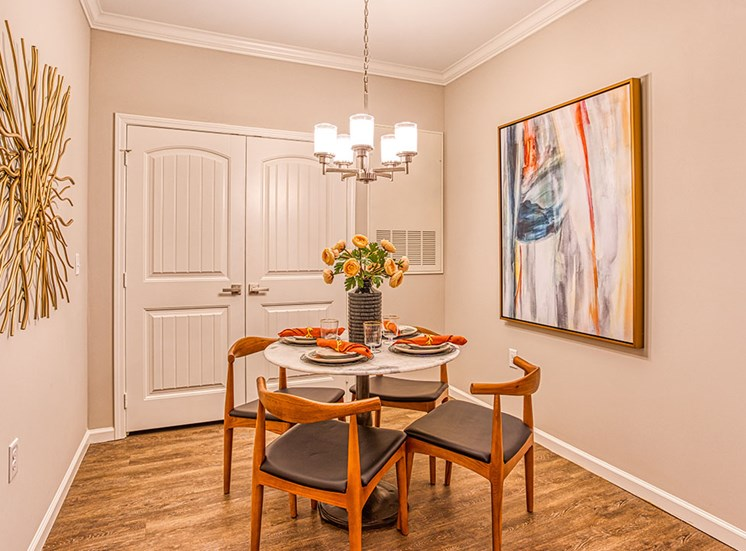 dining area inside of apartment unit at Ascot Point Village Apartments, Asheville, NC, 28803