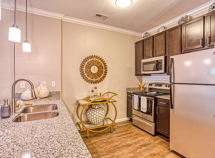 large counter space in apartment unit with modern appliances at Ascot Point Village Apartments, Asheville, 28803