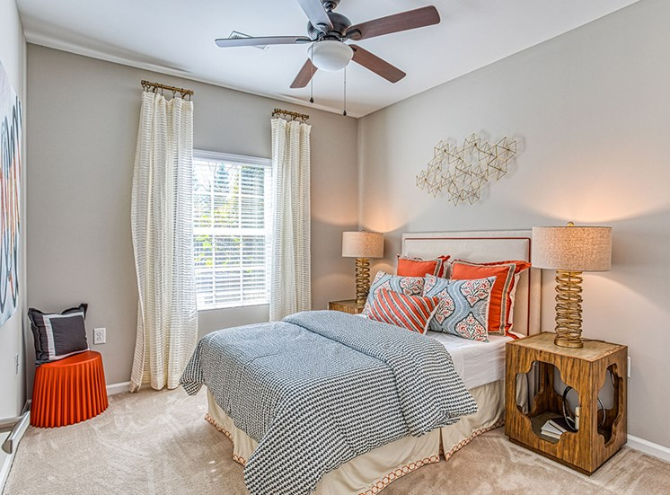 bedroom view with sunlight at Ascot Point Village Apartments, North Carolina, 28803