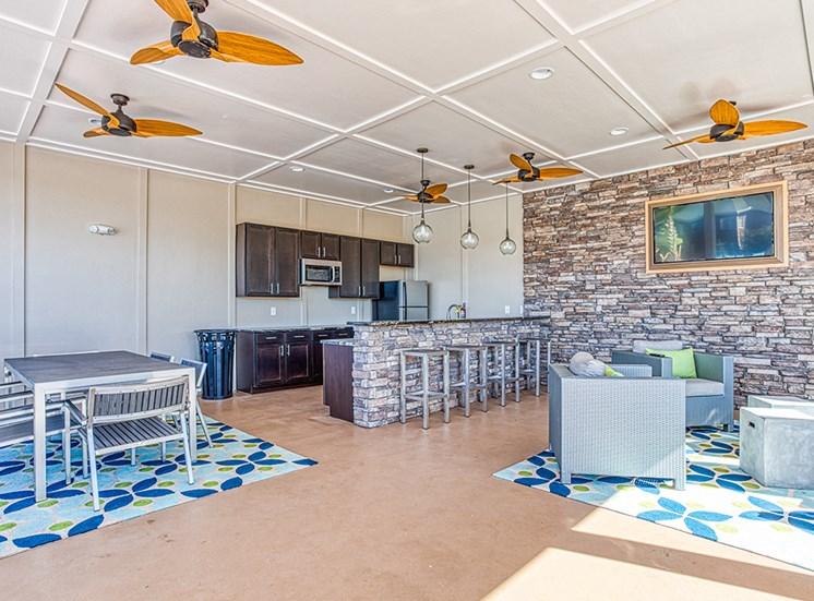 outdoor open concept kitchen at Ascot Point Village Apartments, Asheville, NC, 28803