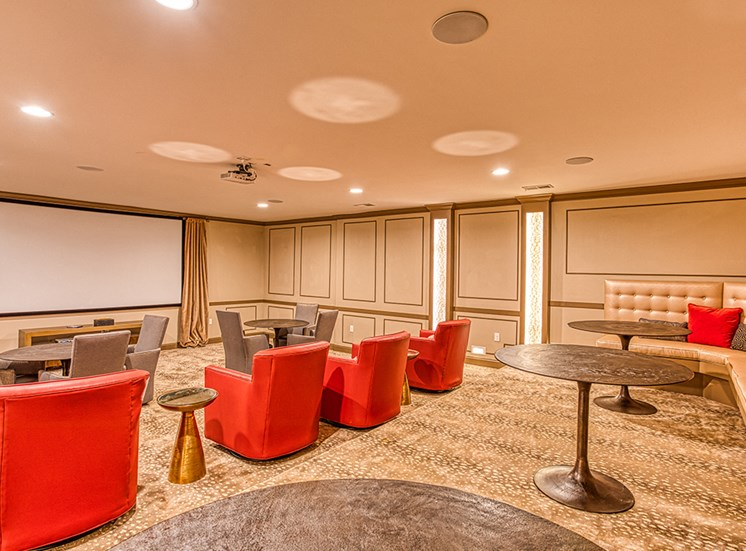 movie theater with arm chair area at Ascot Point Village Apartments, Asheville, North Carolina
