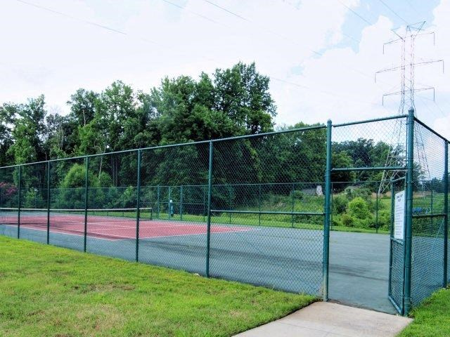 Professional Grade Tennis Court at Copper Mill Village Apartments, High Point, 27265