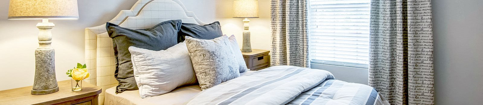 Live in cozy bedrooms at Broadstone Village Apartments, High Point