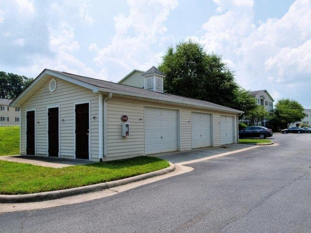 Detached Garages with Remote Access at Broadstone Village Apartments, High Point