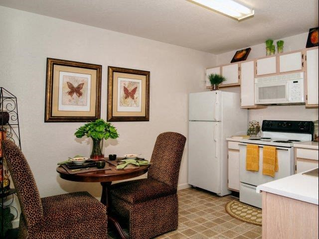 Eat-in Kitchens at Broadstone Village Apartments, High Point, North Carolina