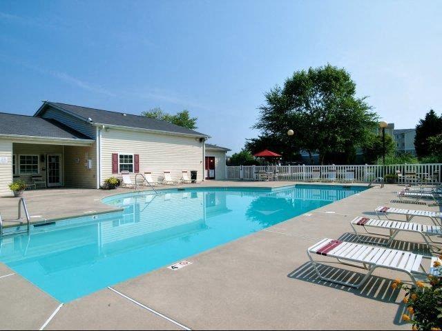 Pool Seating at Broadstone Village Apartments, North Carolina