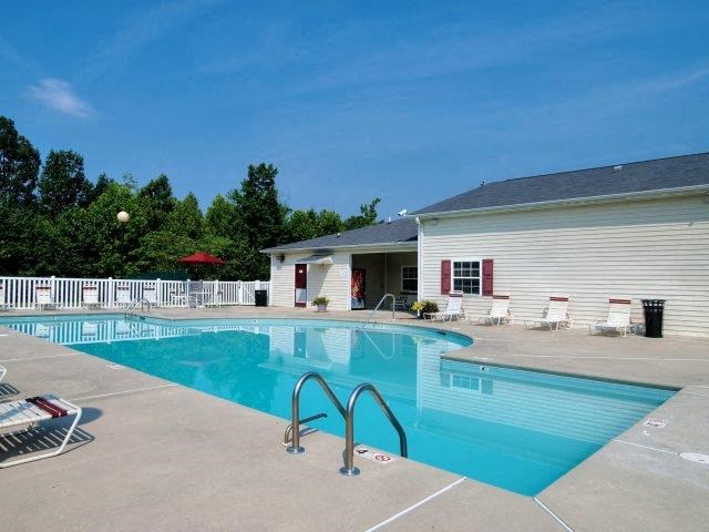 Pool With Custom Steps at Broadstone Village Apartments, North Carolina, 27260