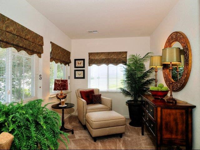 Trendy Living Room at Broadstone Village Apartments, High Point, NC