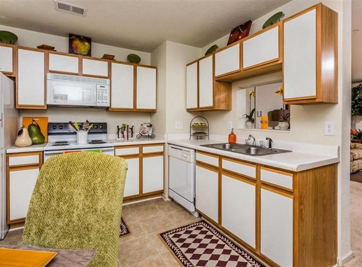 Kitchen Cabinetsat Hidden Creek Village Apartments, Fayetteville, NC, 28314