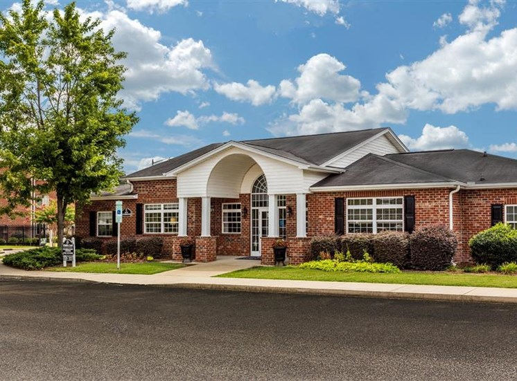 Clubhouse Entrance at Hidden Creek Village Apartments, Fayetteville, NC, 28314