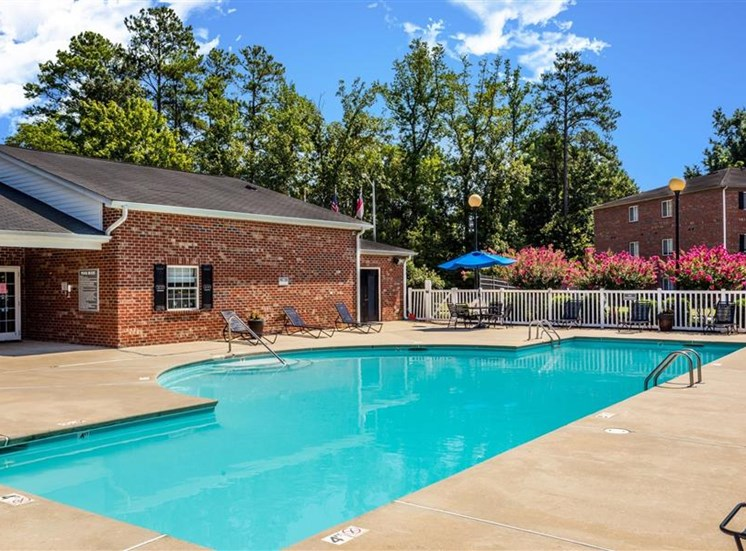 Pool Side Relaxing Area at Hidden Creek Village Apartments, Fayetteville, North Carolina