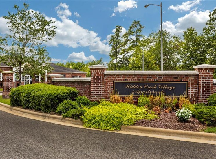 Grand Entrance with Architectural Details at Hidden Creek Village Apartments, North Carolina, 28314