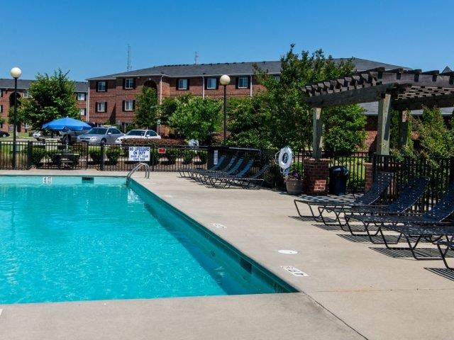 Pool Side Relaxing Area at Deer Meadow Village Apartments, Columbia