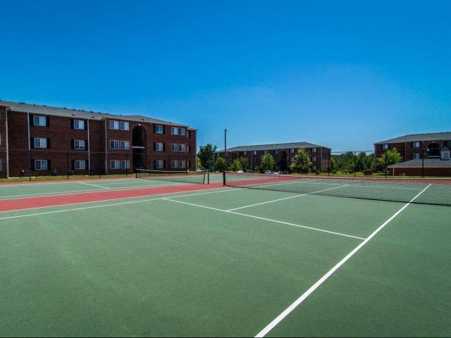 Professional Grade Tennis Court at Deer Meadow Village Apartments, Columbia
