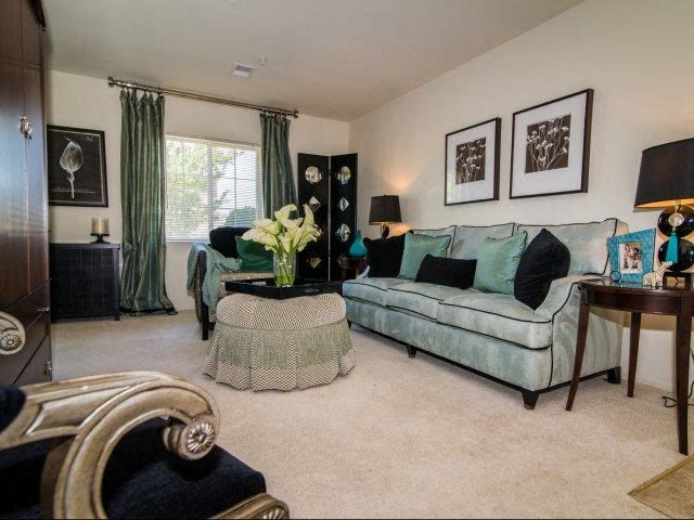 Contemporary Living Room at Deer Meadow Village Apartments, Columbia, 29209