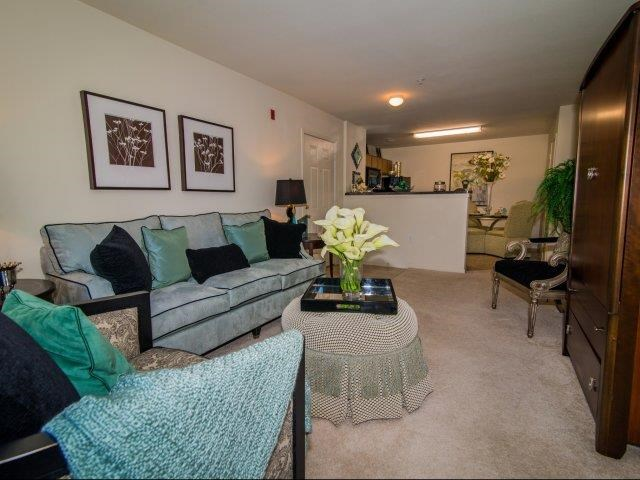 Remodeled Living Room at Deer Meadow Village Apartments, Columbia, South Carolina