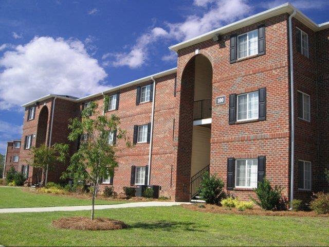 Beautiful Brick Construction of Apartment Complex Exterior at Eagle Point Village Apartments, North Carolina