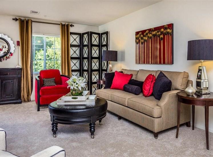 Abundant Natural Light in Living Room at Eagle Point Village Apartments, Fayetteville