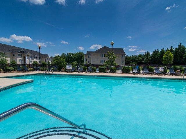 Poolside Relaxing Area at Cedarcrest Village Apartments, Lexington, 29072