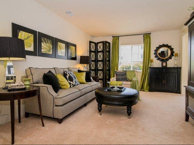Upgraded Modern Lighting in Living Room at Cedarcrest Village Apartments, Lexington, SC, 29072