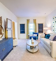 Spacious Living Room at Cobblestone Village Apartments in Summerville, SC