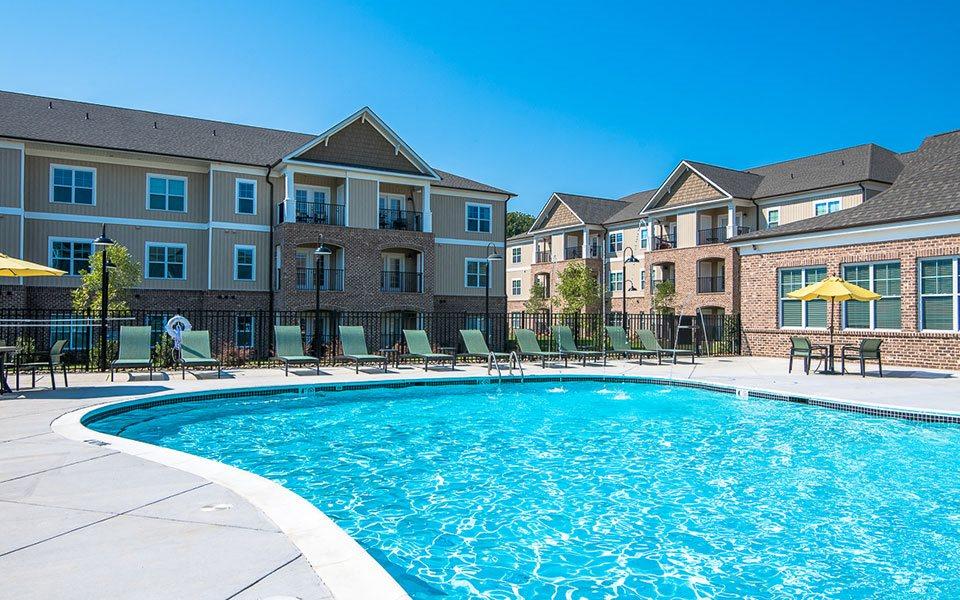 Sparkling swimming pool at Millis and Main at Grandover