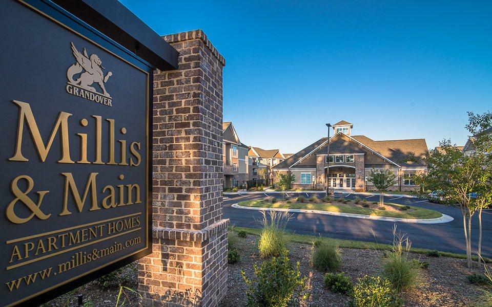 Signage at Millis and Main at Grandover, Jamestown, NC 27282
