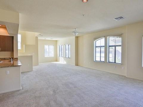 Unfurnished living room model