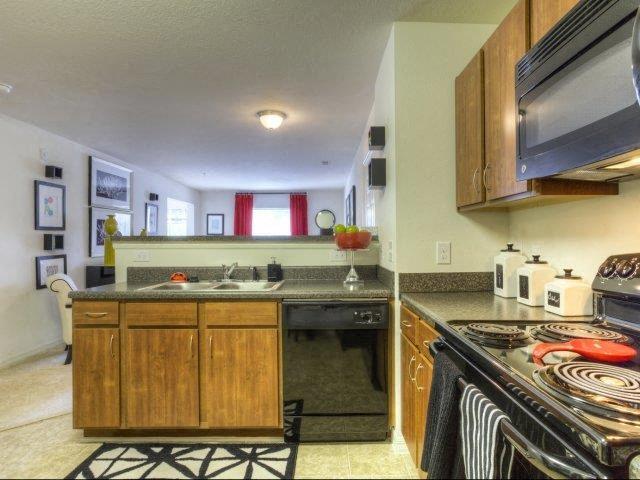 All Electric Kitchen at Berrington Village Apartments, Asheville, North Carolina