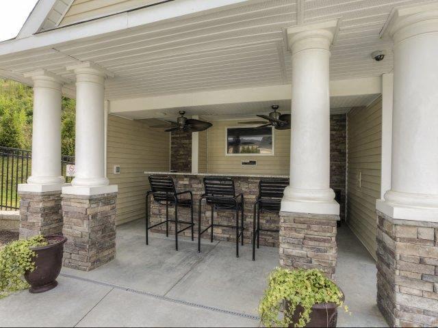 Open-Air Pool Bar at Berrington Village Apartments, North Carolina