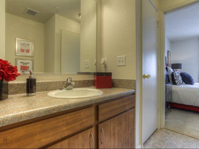 Designer Granite Countertops in all Bathrooms at Berrington Village Apartments, North Carolina, 28803