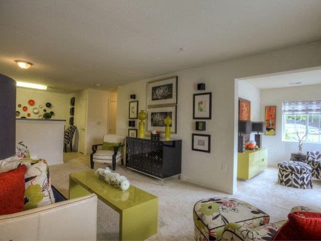 Contemporary Living Room Design at Berrington Village Apartments, Asheville, North Carolina