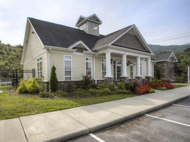 Front Entrance at Berrington Village Apartments, Asheville