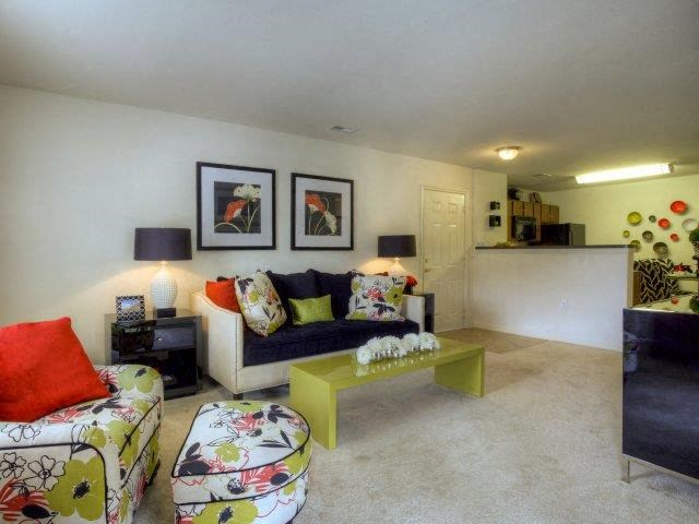Upgraded Living Room Interiors  at Berrington Village Apartments, Asheville, NC