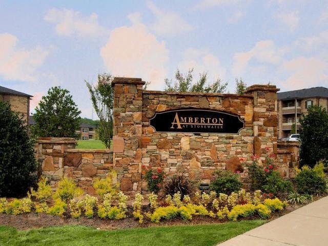 Front Entrance Lawn at Amberton at Stonewater, Cary, NC, 27519