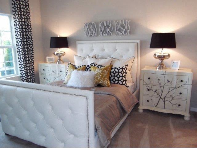 Trendy Bedroom Interior at Amberton at Stonewater, North Carolina, 27519