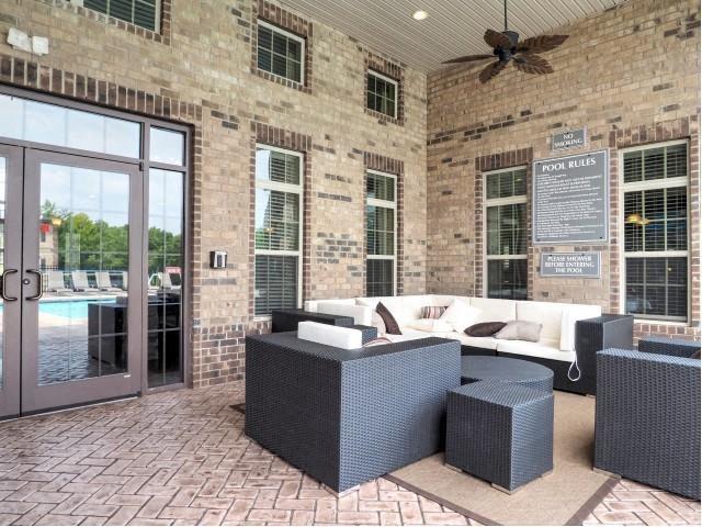 Outdoor Relaxation Area at Amberton at Stonewater, North Carolina