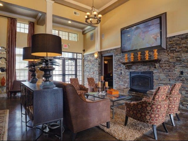 Clubhouse with Fireplace at Amberton at Stonewater, Cary, NC, 27519